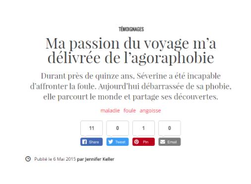 article agoraphobie peur angoisses