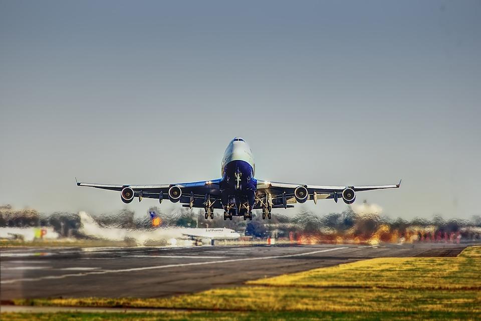 avion, décollage, voyage