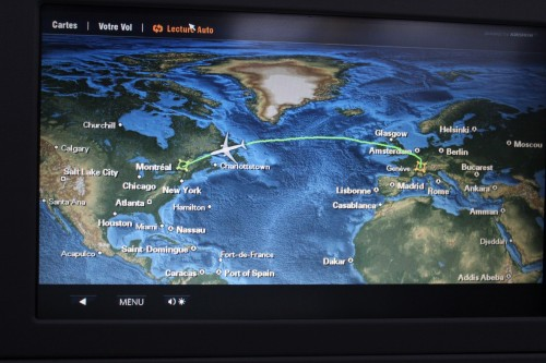 Québec plan avion itinéraire