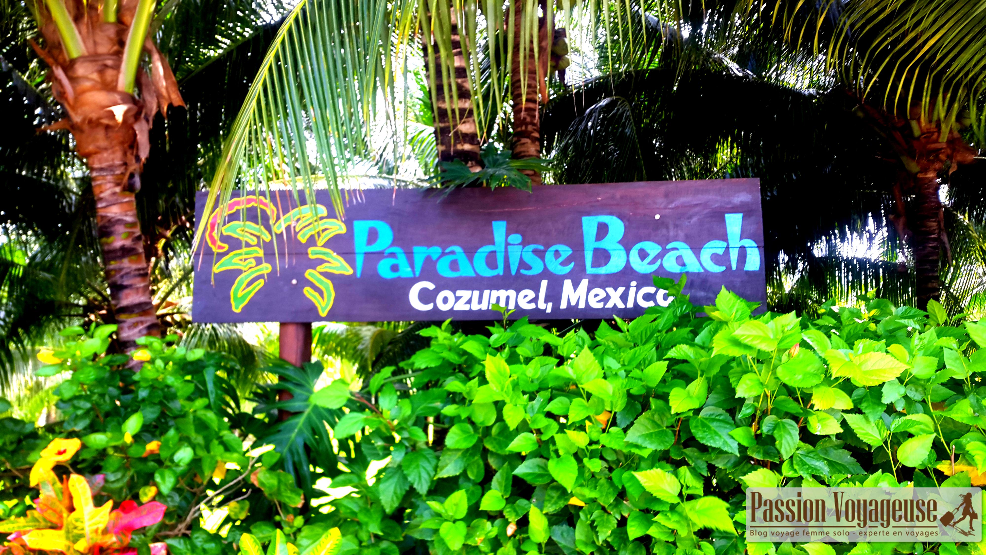 Cozumel plages hotel mexique paradise beach