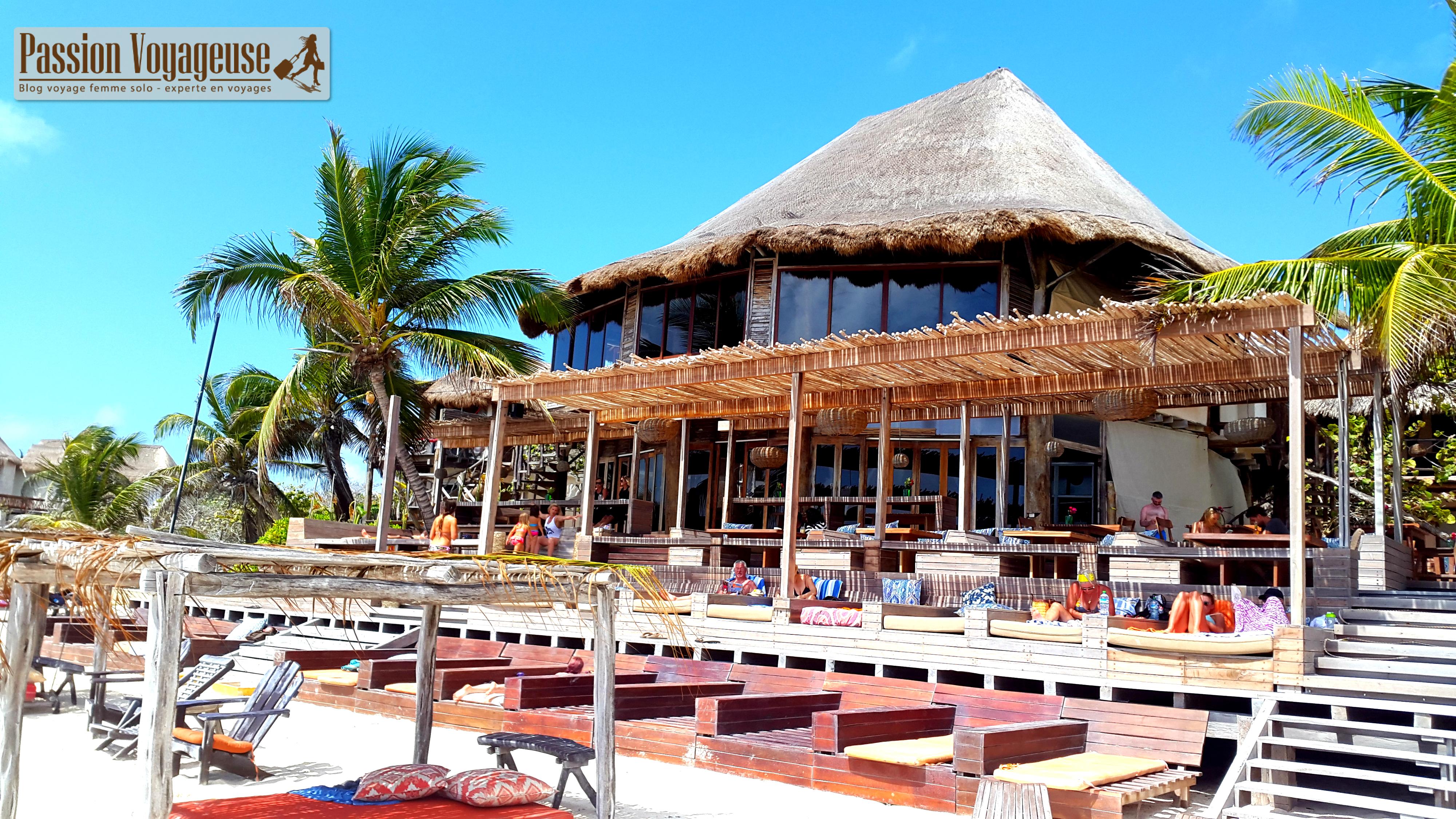 Tulum plages mexique amansala beach hotel