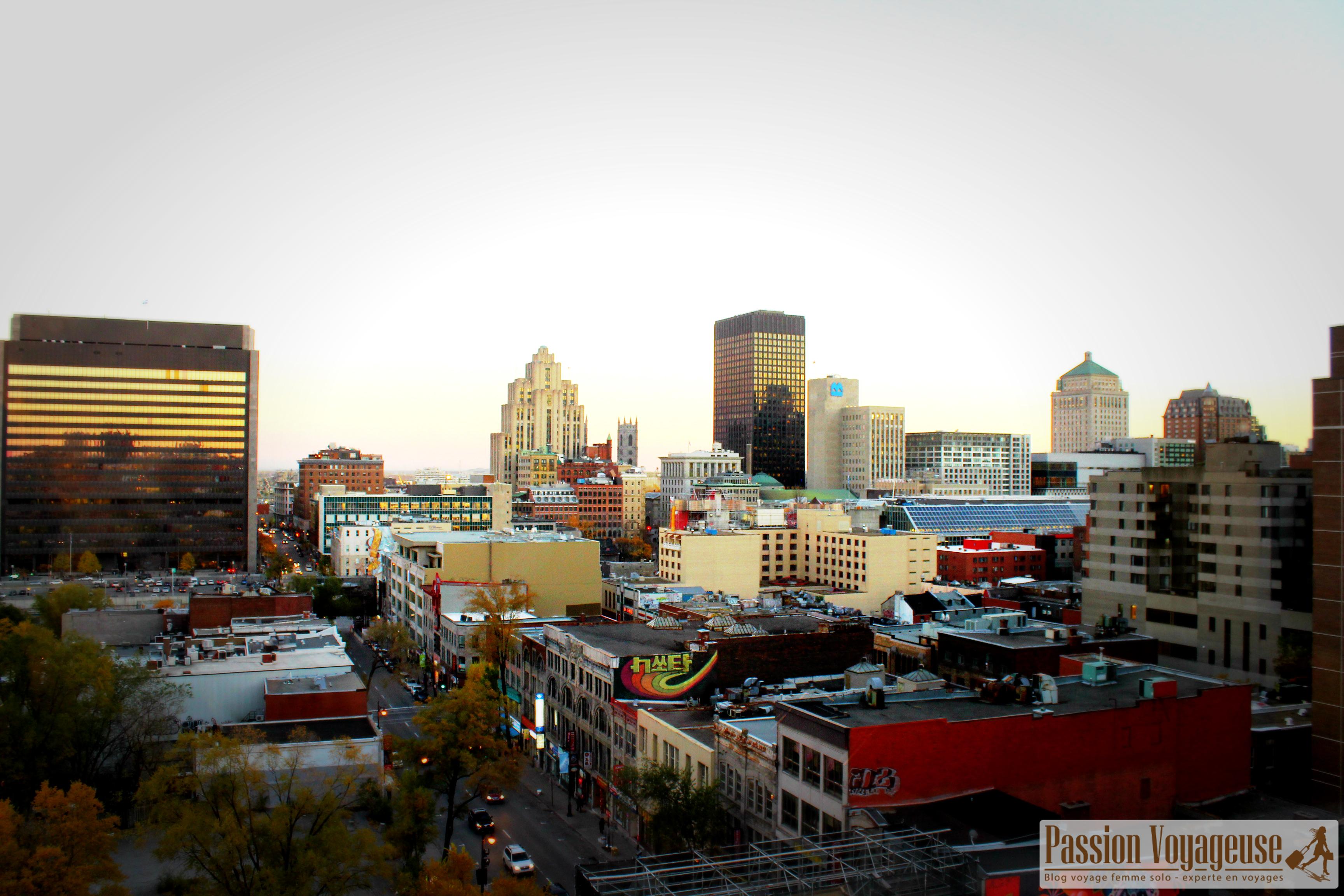vue montreal centre ville depuis hotel zero1