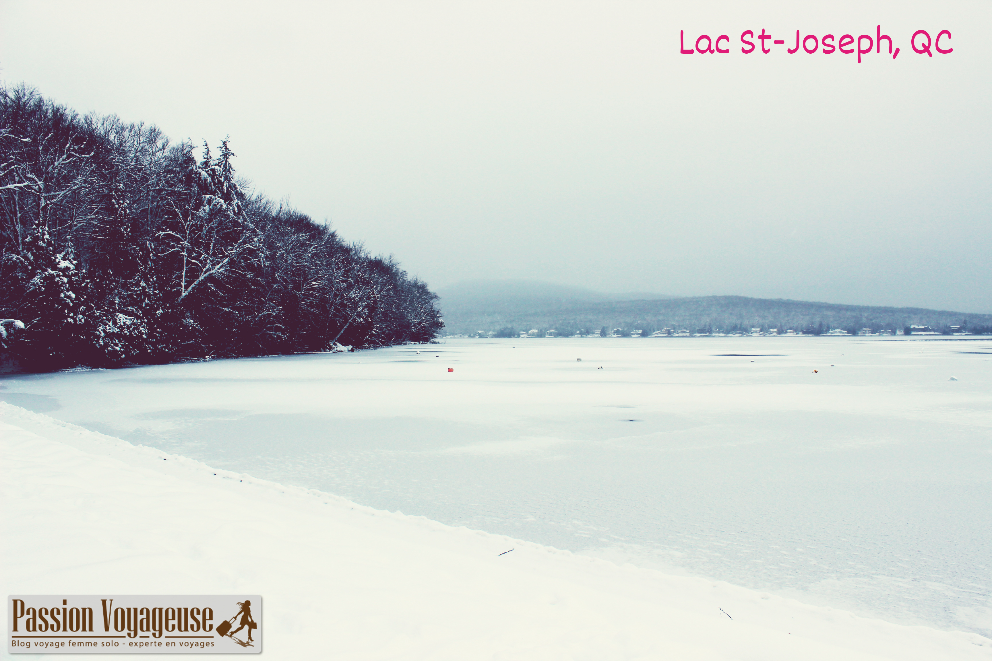 lac st-joseph québec canada hiver