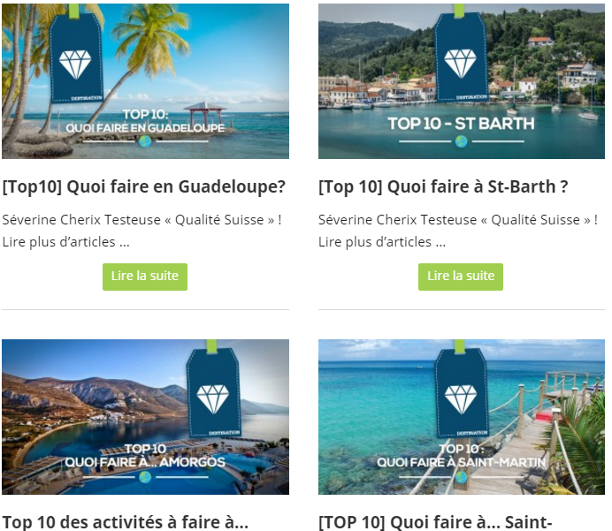 Top 10 à destination